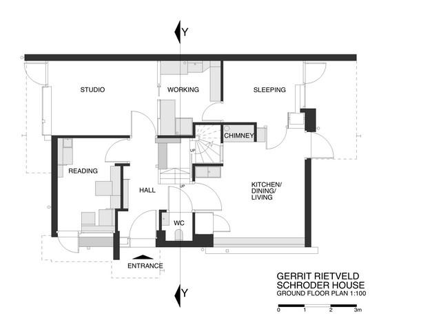 Bản vẽ thiết kế tầng trệt tòa nhà Schroder