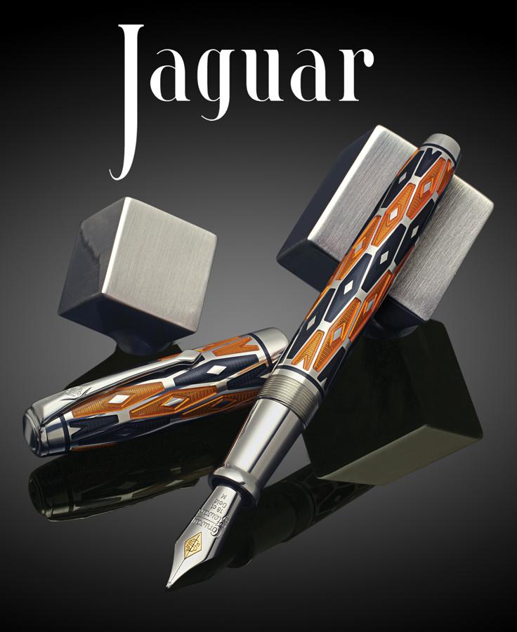 Bút Jaguar phiên bản giới hạn với họa tiết kim cương cổ điển theo phong cách nghệ thuật Deco