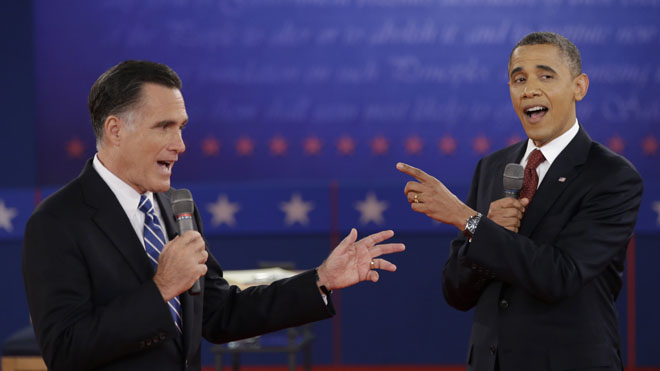 Obama and Romney on Debate