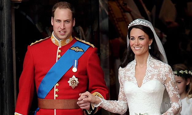 Hoàng tử William và công nương Kate Middleton trong lễ cưới vào tháng 04.2011