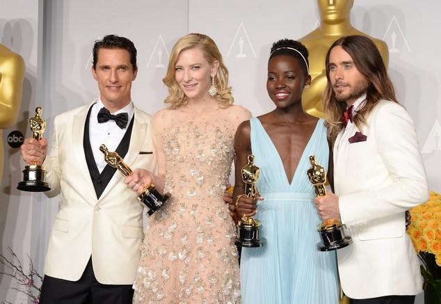 Matthew Mc Conaughey, Cate Blanchet, Lupita Nyong'O và Jared Leto đoạt các giải diễn viên xuất sắc nhất