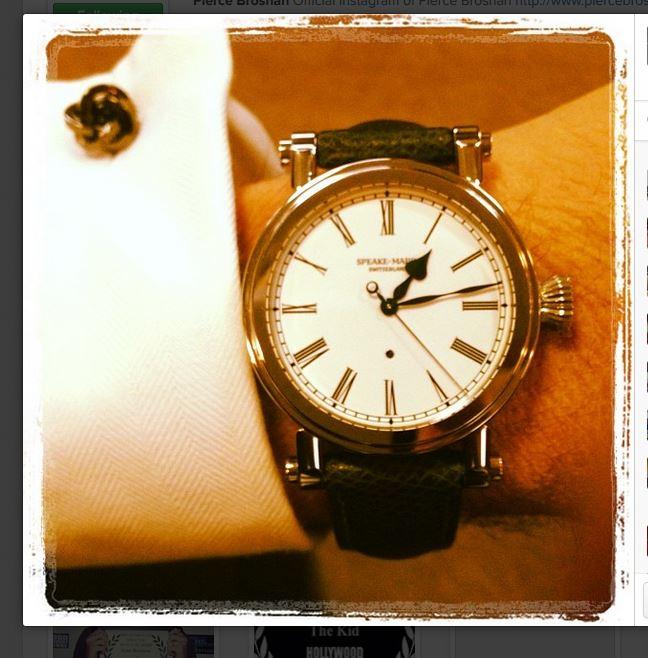 Đồng hồ Speake-Marin Resilience trên tay Pierce Brosnan