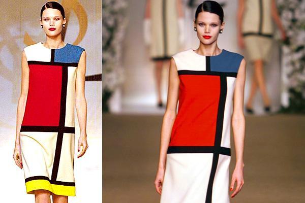 YSL's modrian dress