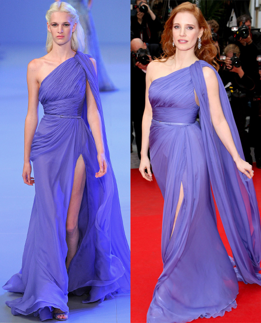 Jessica Chastain - Elie Saab Couture SS2014-1