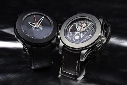 Valbray EL1 Chronograph màu bạc titanium và màu xám đen carbon
