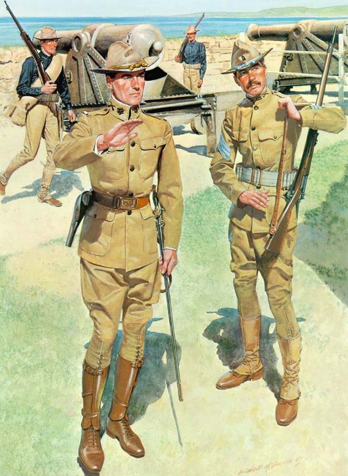 u-s-army-poster-during-the-spanish-american-war-showing-soldiers-wearing-khaki