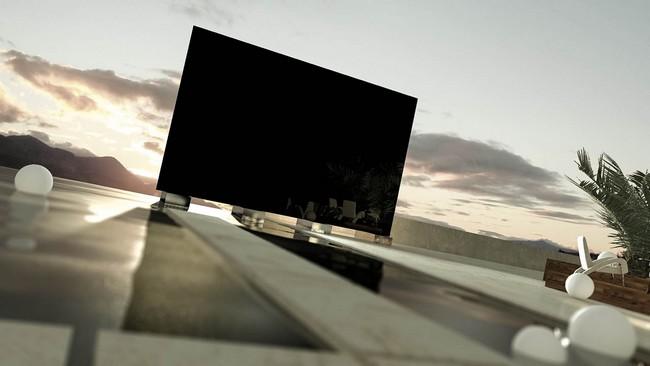 Chiếc TV này hiển thị dưới ánh sáng mặt trời cực tốt