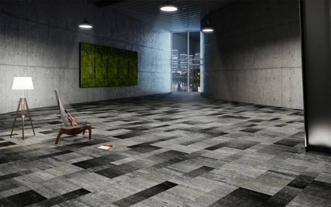 "Thảm trải sàn Fletco ""Art Weave"" của Benny Jensen."