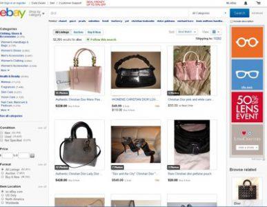 Các sản phẩm của Dior Couture được bán trên eBay