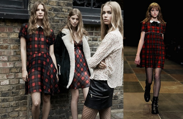 Trái: Zara Thu Đông 2013-2014; Phải: Yves Saint Laurent Thu Đông 2013-2014