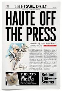 Ấn phẩm The Karl Daily của nhà thiết kế Karl Lagerfeld