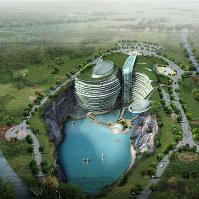 dezeen_Cave-hotel-underway-in-water-filled-Chinese-quarry_1sq