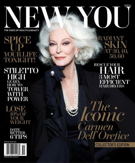Siêu mẫu 83 tuổi Carmen trên bìa tạp chí New York
