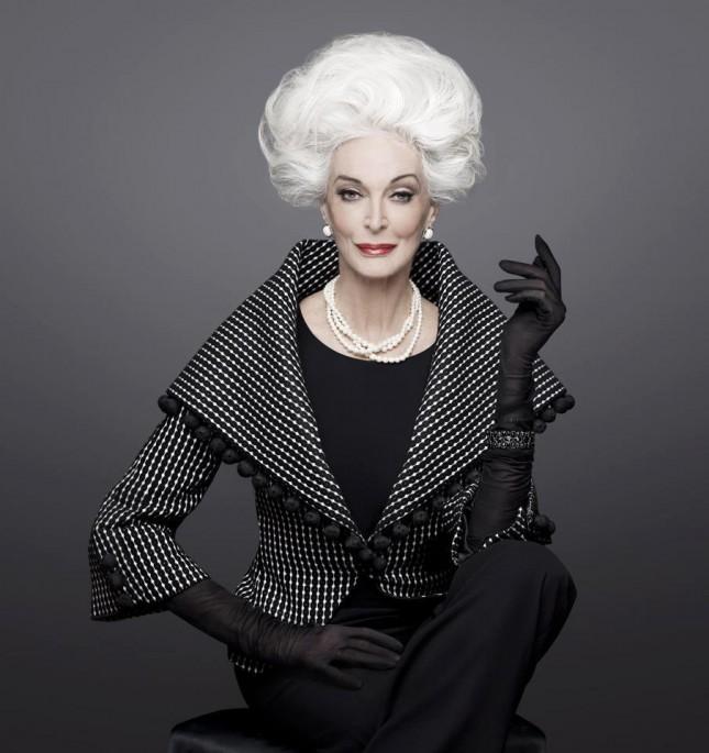 """Bà Carmen không chỉ đem tới cảm hứng cho các nhà thiết kế mà cả những người phụ nữ bắt đầu bị ám ảnh bởi 2 chữ """"tuổi tác"""""""