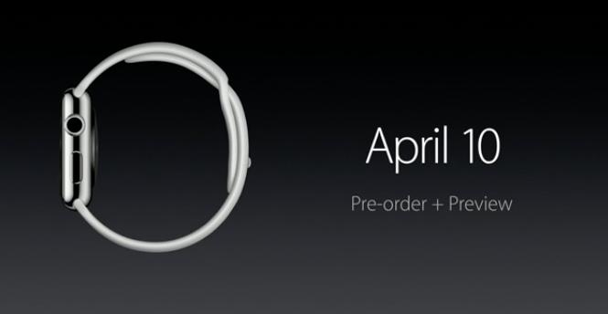 Apple bắt đầu nhận đơn đặt hàng iWatch từ ngày 10.04 tới