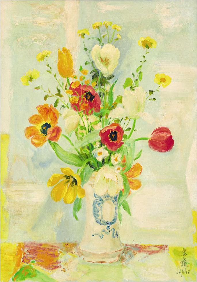 Le-Pho-Sothebys-VASE-OF-FLOWER