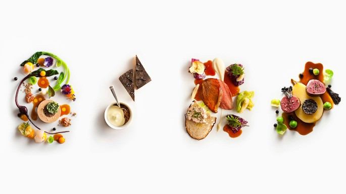 Four Game Dishes prepared by Daniel Humm, Executive Chef of Eleven Madison Park in New York City.