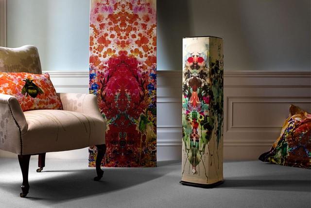 Tấm vải bọc với họa tiết độc đáo của designer Harris Tweed