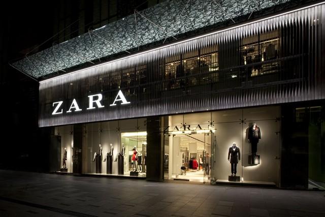 Cửa hàng Zara luôn nằm ở vị trí đắc địa trên các con phố mua sắm nổi tiếng