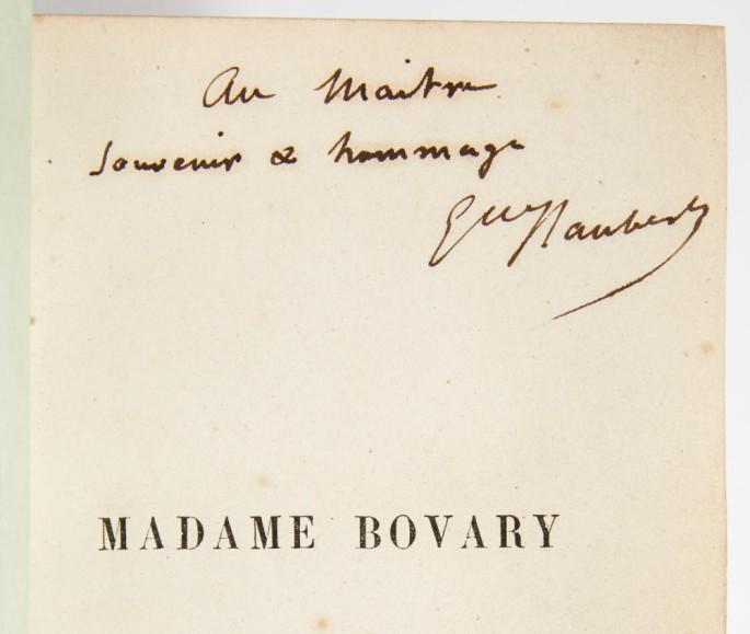 Phiên bản Bà Bovary với chữ viết tay của Flaubert dành tặng Victor Hugo. Ảnh: Stephane Briolant/Pierre Bergé