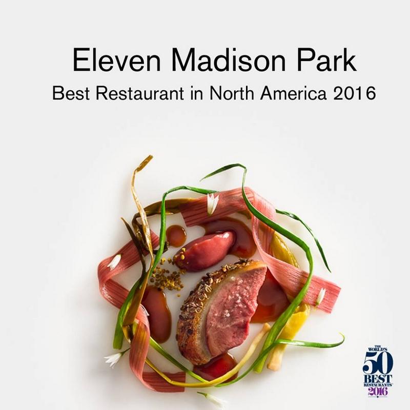 Nhà hàng xuất sắc nhất tại Bắc Mỹ 2016