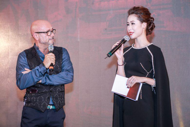 Ông Sergio Della Giovanna và hoa hậu thân thiện Dương Thùy Linh