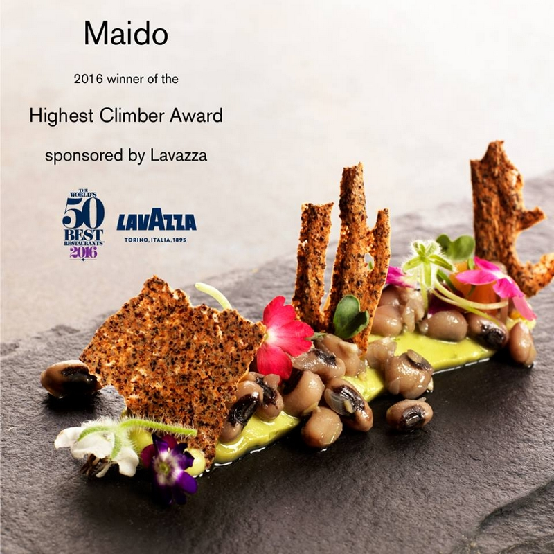Maido-in-Lima-makes-the-leap-from-44-to-13-earning-it-the-Highest-Climber-Award-sponsored-by-Lavazza-2016